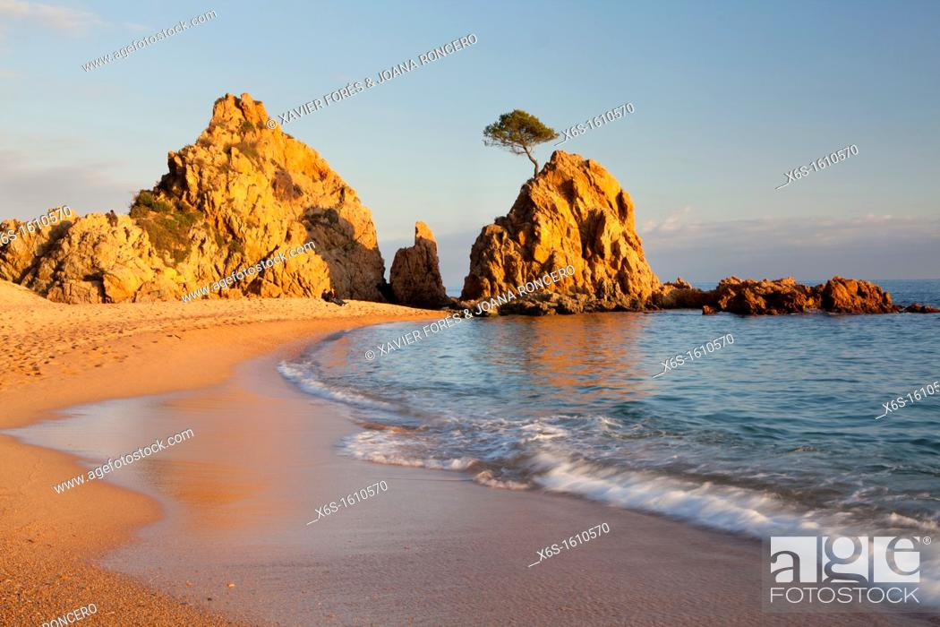Stock Photo: Mar Menuda in Tossa de Mar village, Costa Brava, Girona, Spain.