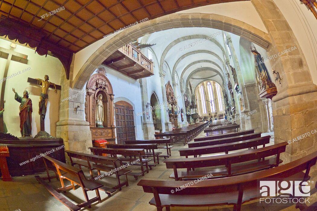 Stock Photo: Paris Church of Santiago en San Francisco, 13-14th Century, Viveiro, Lugo, Galicia, Spain, Europe.