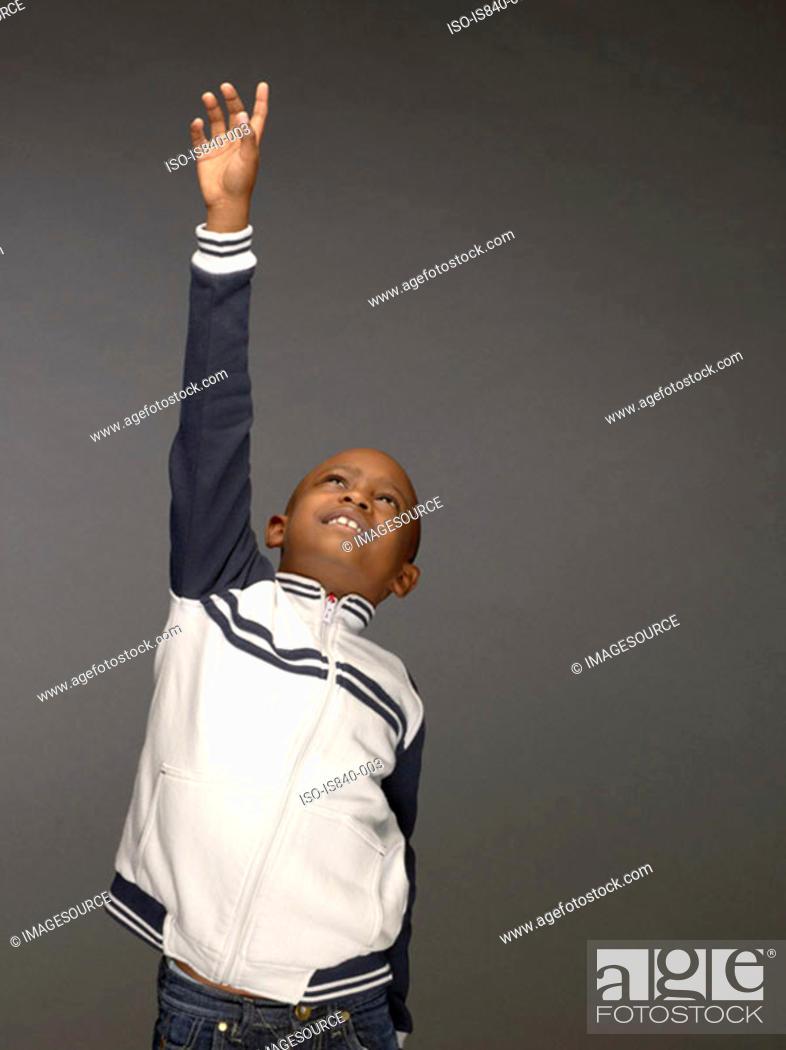 Stock Photo: Boy stretching.