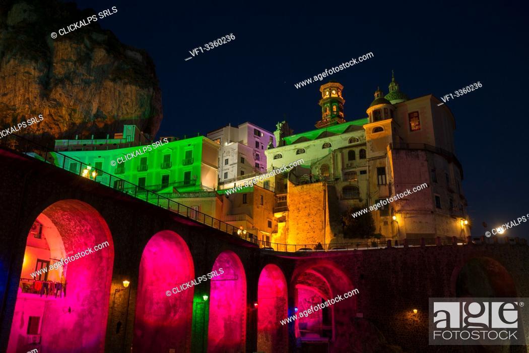 Stock Photo: Europe, Campania, Italy, Salerno district, Amalfitan coast.