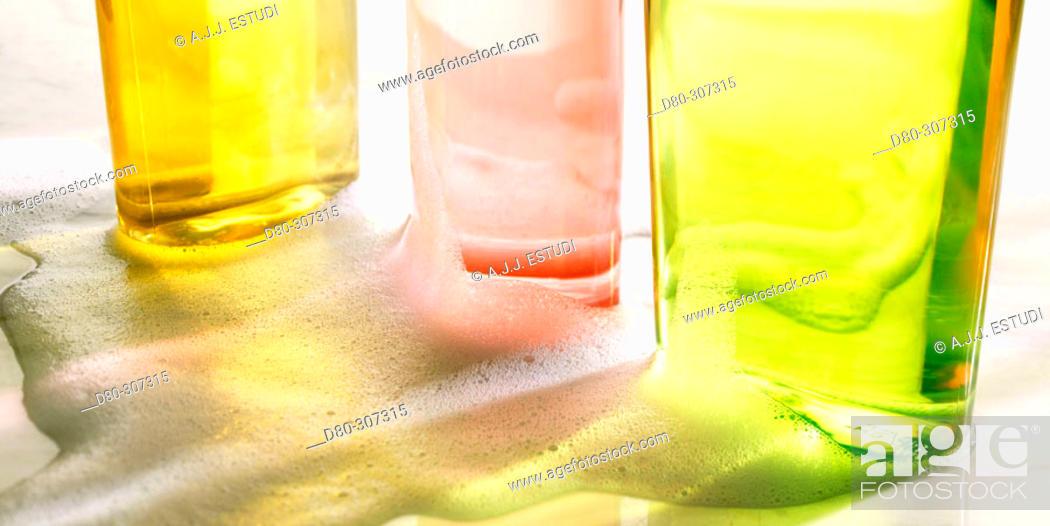 Stock Photo: Gel and shampoo.