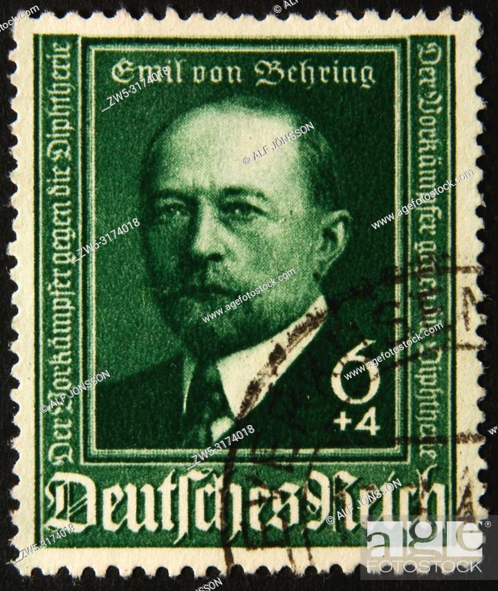 """Stock Photo: Emil von Behring (1854 â. """" 1917), a German physiologist who received the 1901 Nobel Prize in Physiology or Medicine, ."""