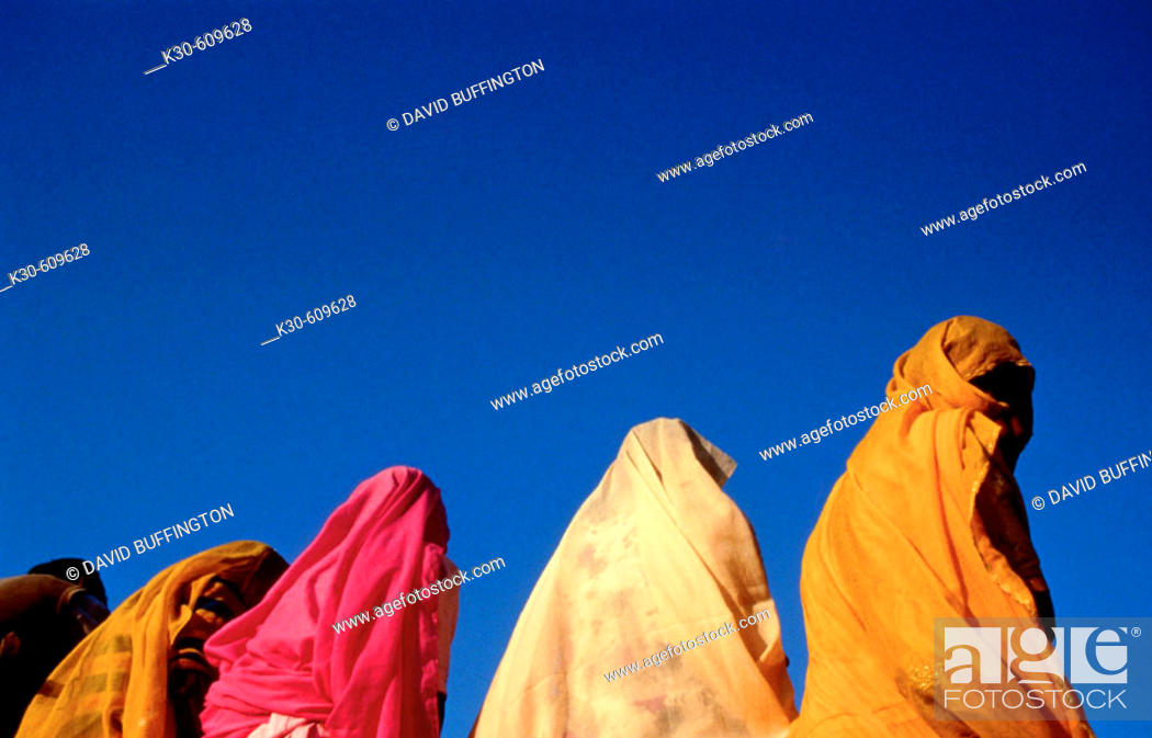 Stock Photo: Women in saris. India.