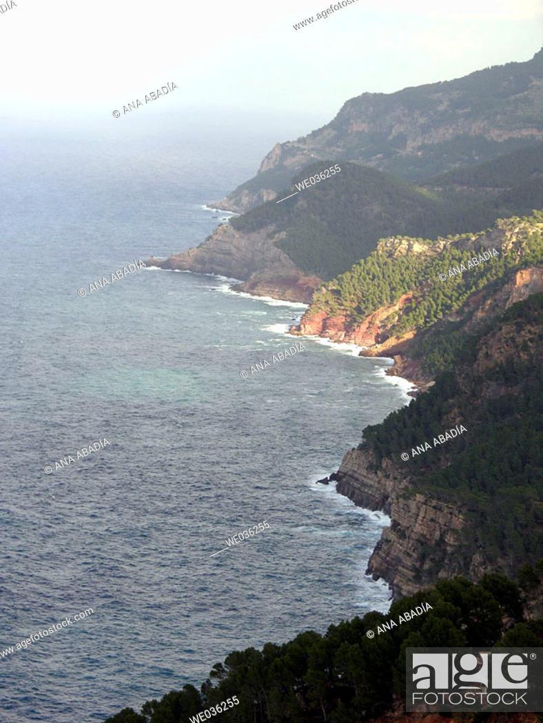 Stock Photo: Serra de Tramuntana coast, Majorca. Balearic Islands, Spain.