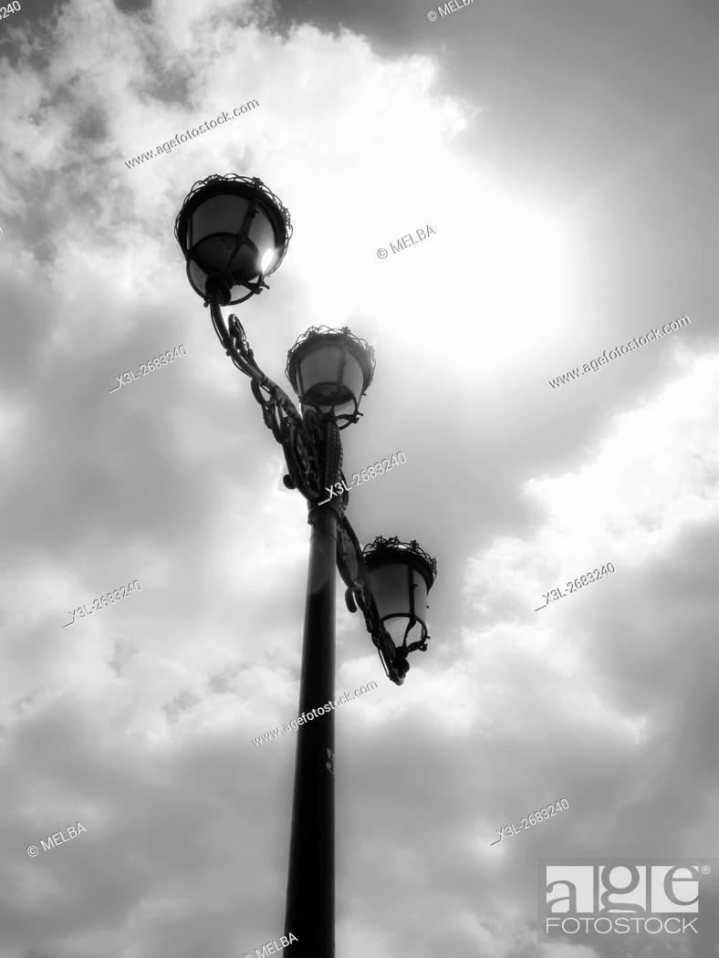 Stock Photo: Streetlamp. Sevilla. Andalusia. Spain.