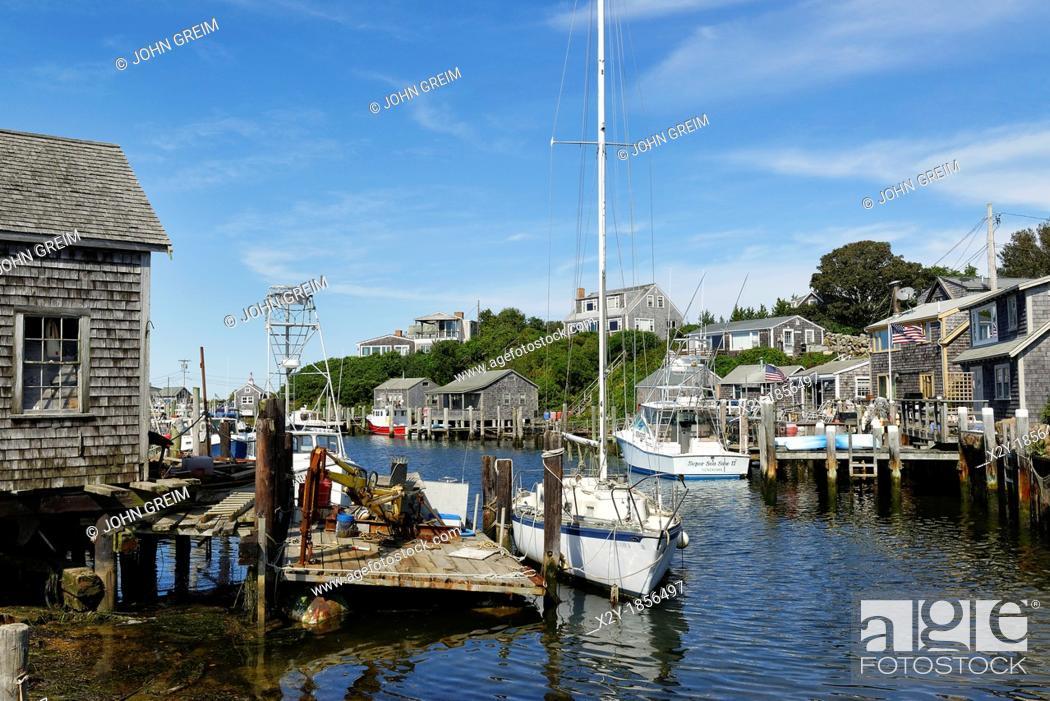 Imagen: Quaint fishing village of Menemsha, Chilmark, Martha's Vineyard, Massachusetts.