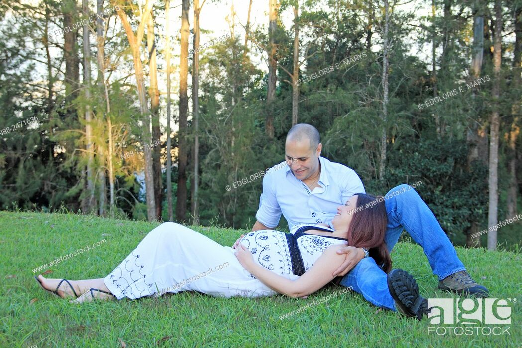 Stock Photo: Couple expecting first baby.
