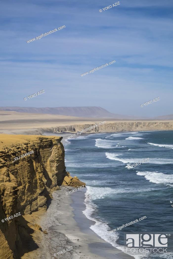 Stock Photo: Peru, Paracas, Natural Reserve.