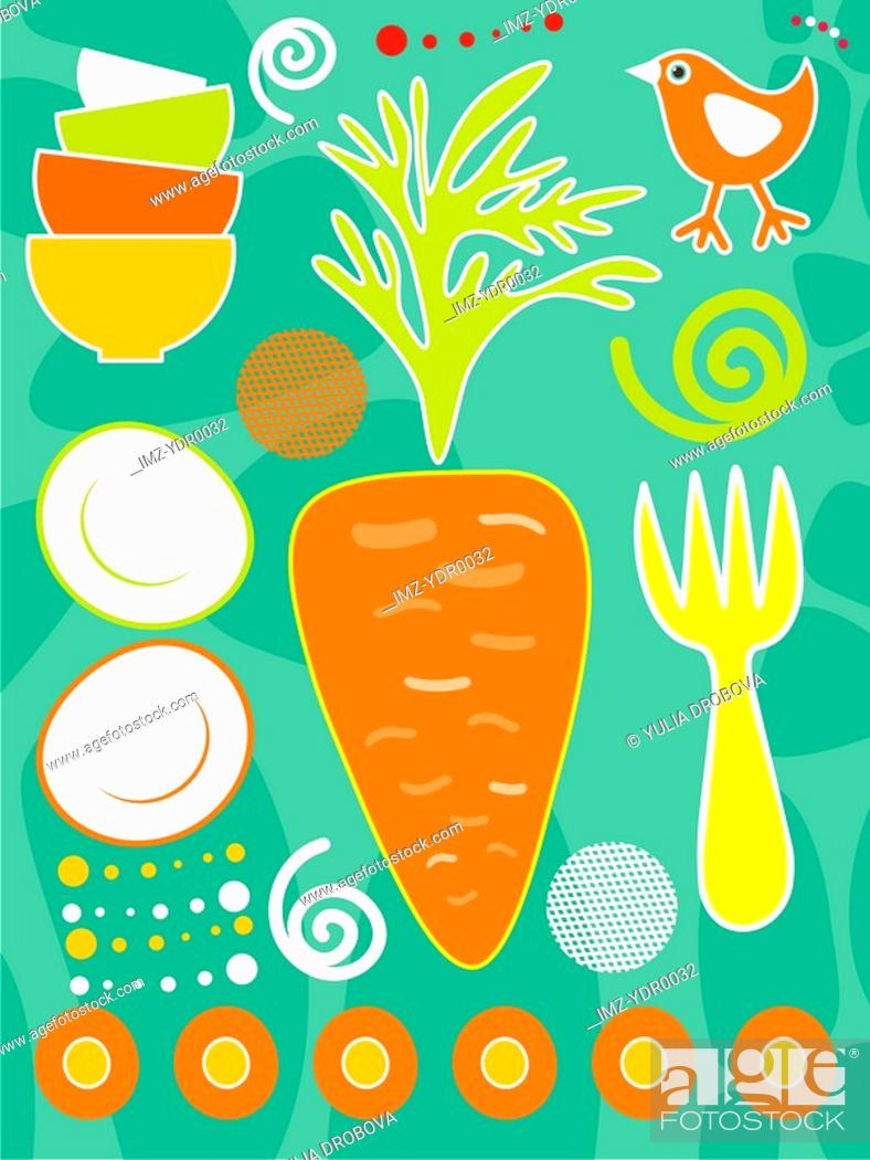 Stock Photo: An illustration about carrots in food.