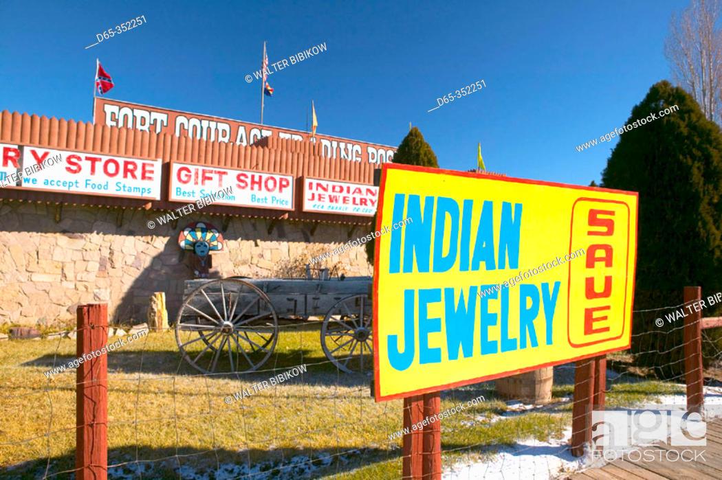 Stock Photo: Fort Courage trading post on I-40, Houck. Arizona, USA.