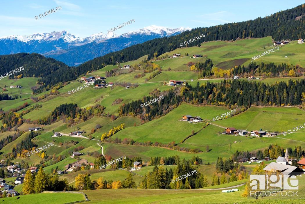 Stock Photo: Santa Maddalena (Val di Funes)-Trentino Alto Adige, Italy.