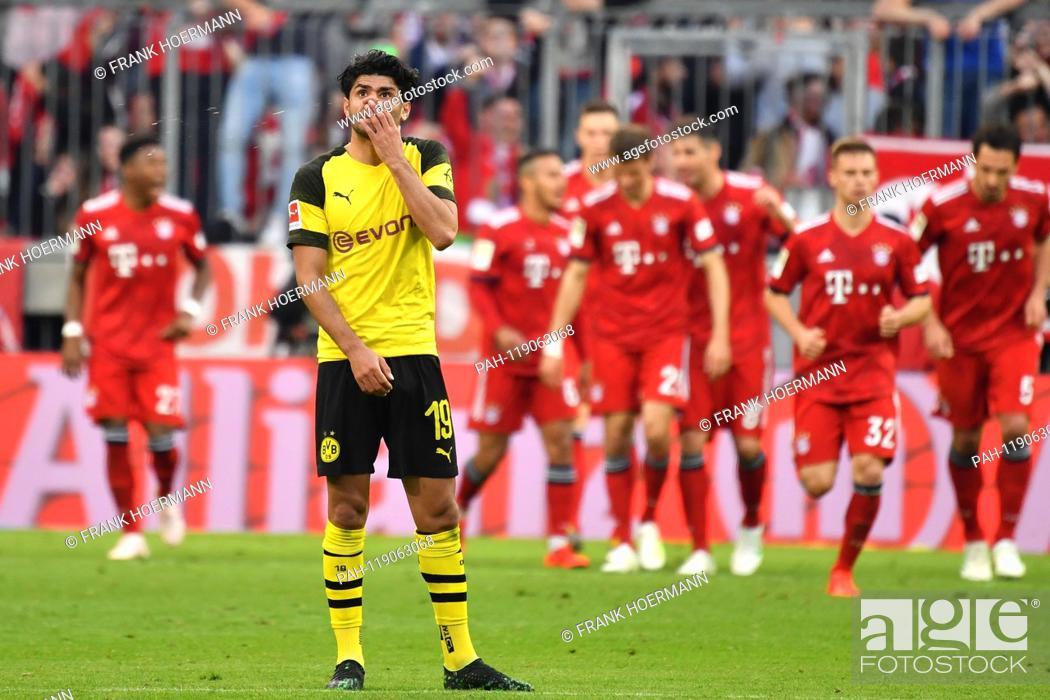 Stock Photo: Mahmoud Dahoud (Borussia Dortmund), disappointment, frustrated, disappointed, frustrated, dejected, after versustor, action. Soccer 1. Bundesliga, 28.