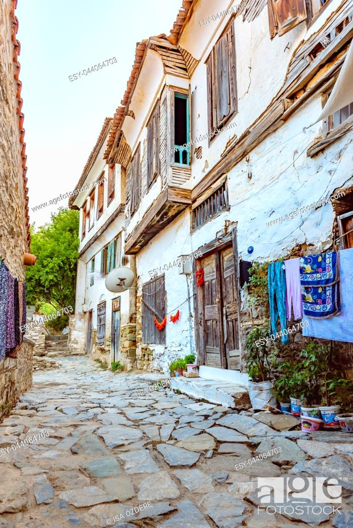 Stock Photo: View of a traditional Houses at Sirince Village, a popular destination in Selcuk, Izmir, Turkey.