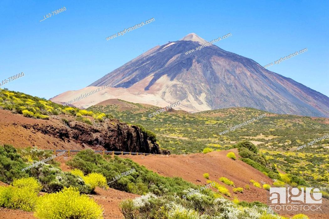 Stock Photo: Mount Teide, Las Cañadas del Teide National Park. Tenerife, Canary Islands, Spain.