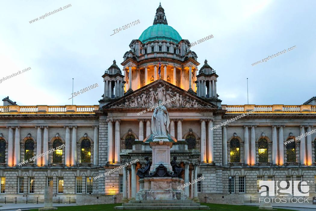 Stock Photo: City Hall, Belfast, Ireland, Europe.