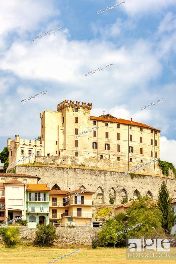 Stock Photo: Monesiglio castle in Piedmont, Italy.