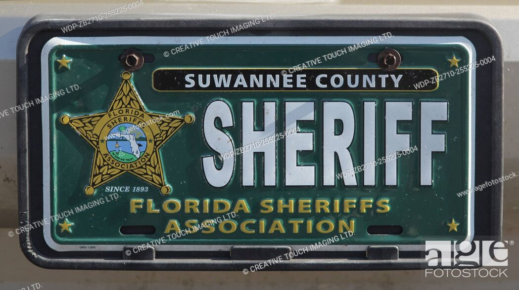 Imagen: Vehicle vanity licence plate belonging to a sheriff from the State of Florida, USA.