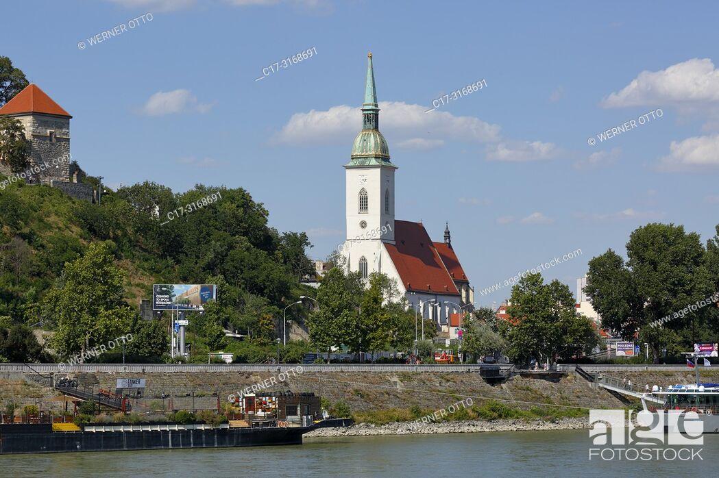 Stock Photo: Bratislava, Slovak Republic, Slovakia, Bratislava, Capital City, Danube, Little Carpathians, St. Martins Cathedral, coronation church, catholic church, Gothic.