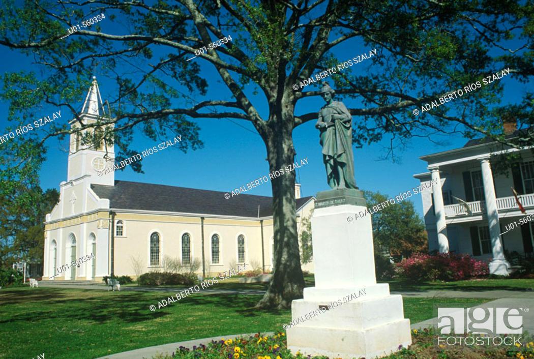 Stock Photo: St. Martin de Tours Catholic Church (built in 1765), St. Martinville. Louisiana, USA.