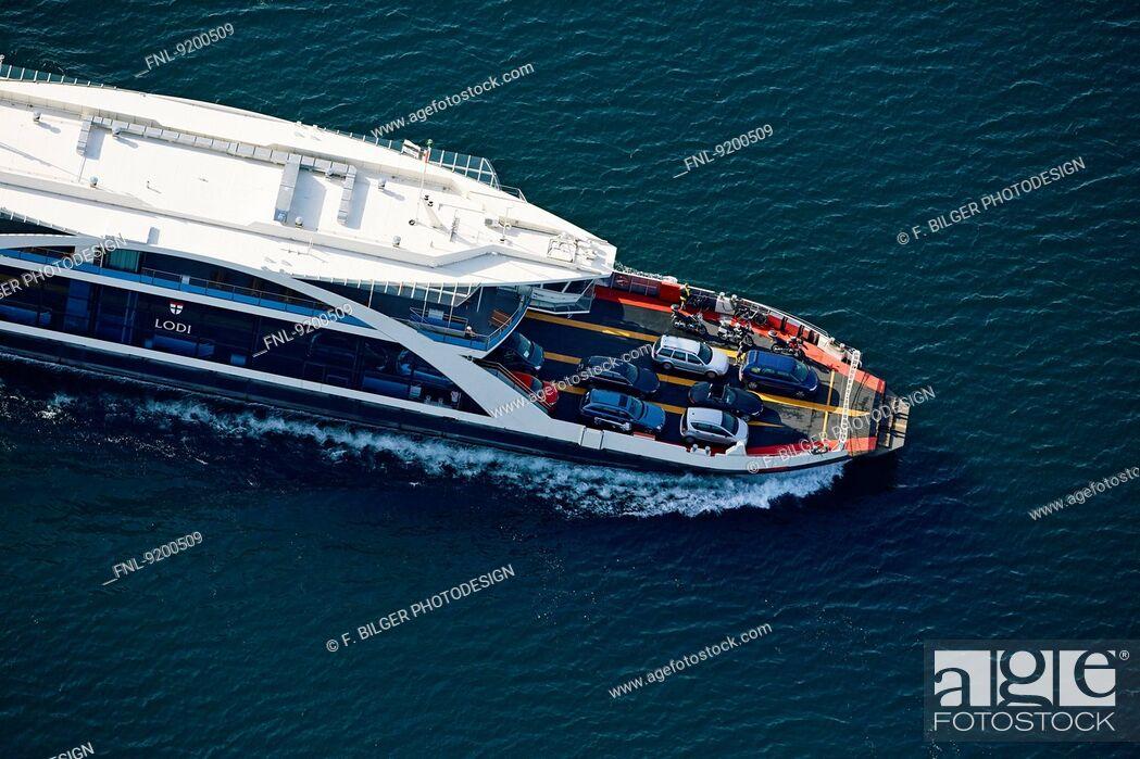 Stock Photo: Ferry Konstanz-Meersburg, Lake Constance, Baden-Wuerttemberg, Germany.
