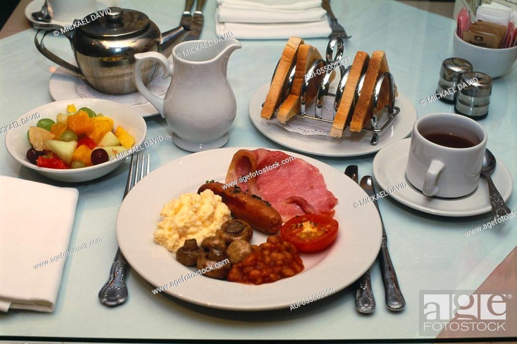 Stock Photo: England - London - gastronomy - English breakfast.