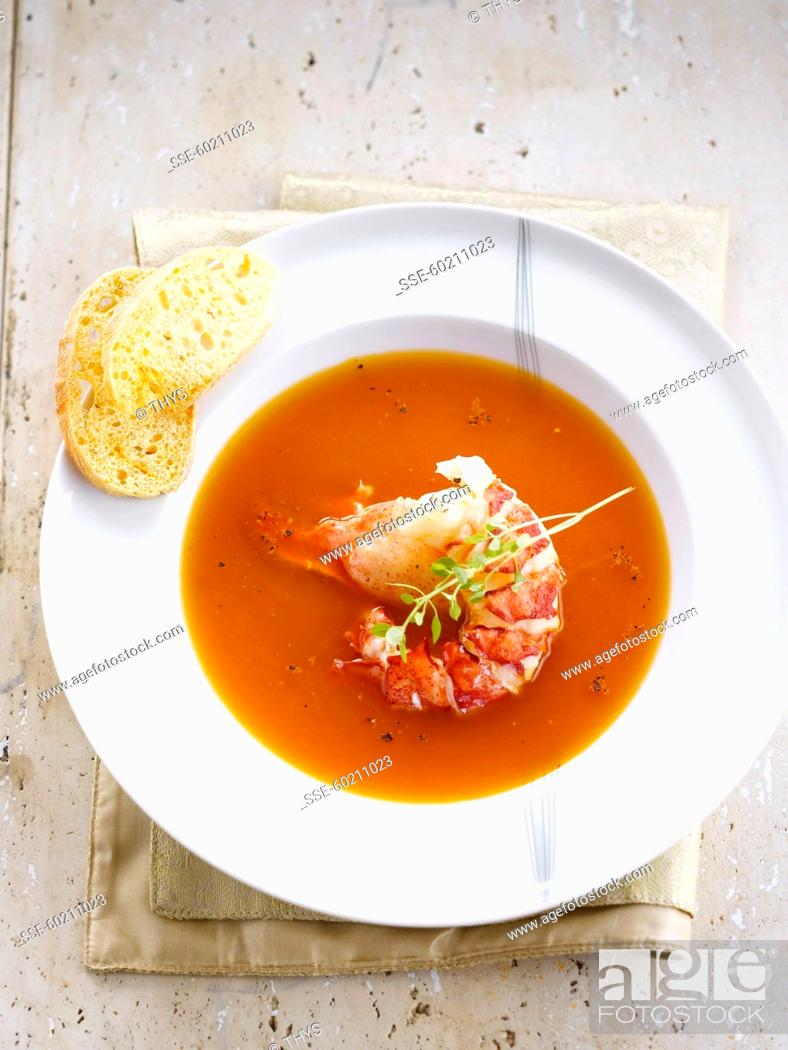 Stock Photo: Lobster bisque.