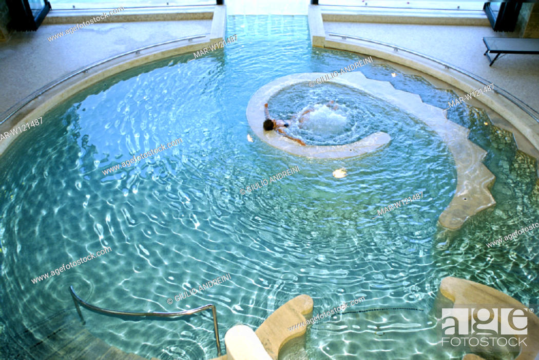 italy, tuscany, san casciano dei bagni, hotel terme de medici, Stock ...