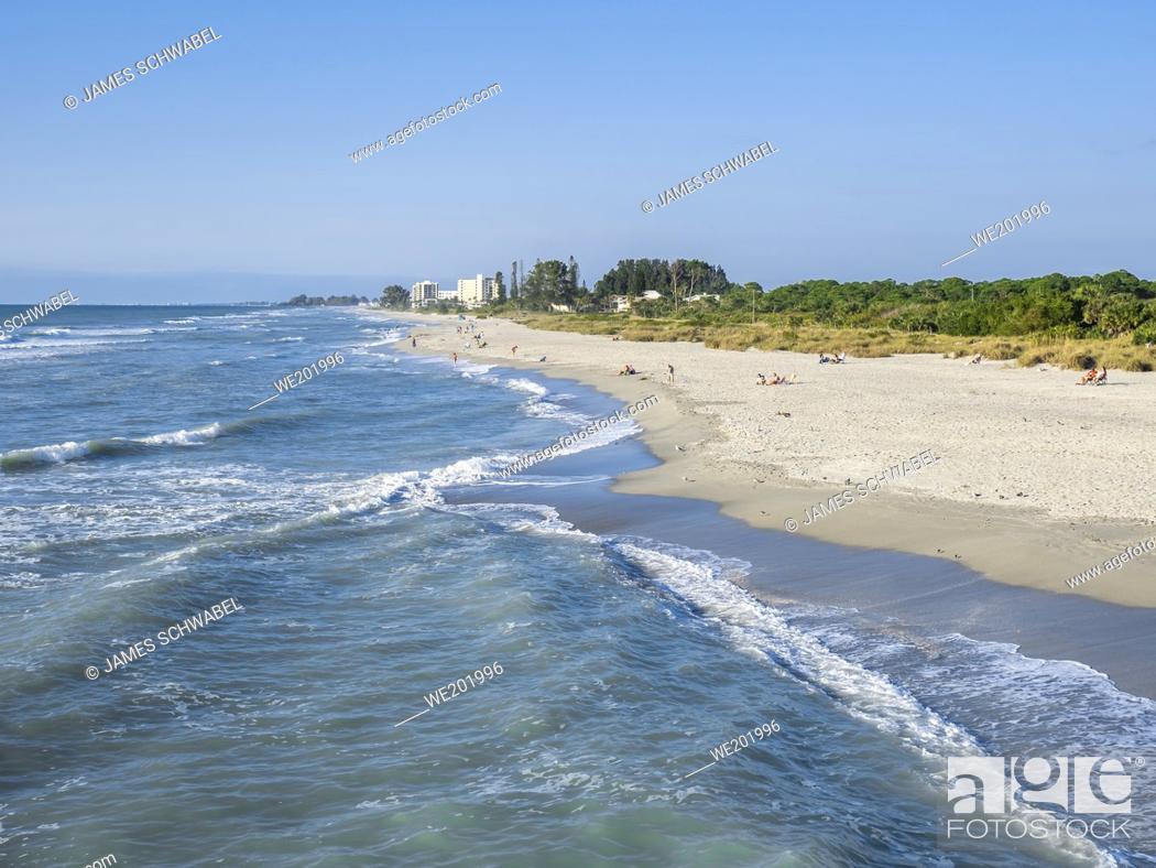 Stock Photo: Southwest gulf coast on the Gulf of Mexico in Venice Florida USA.