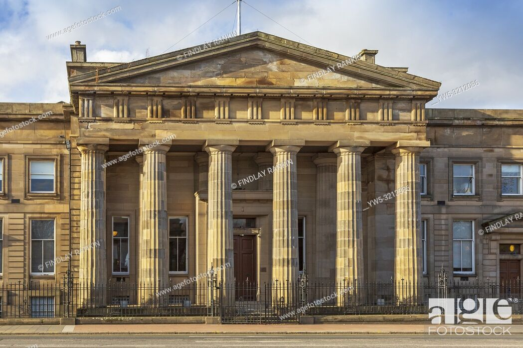Stock Photo: Original building used as the High Court of Justiciary, Saltmarket, Glasgow.