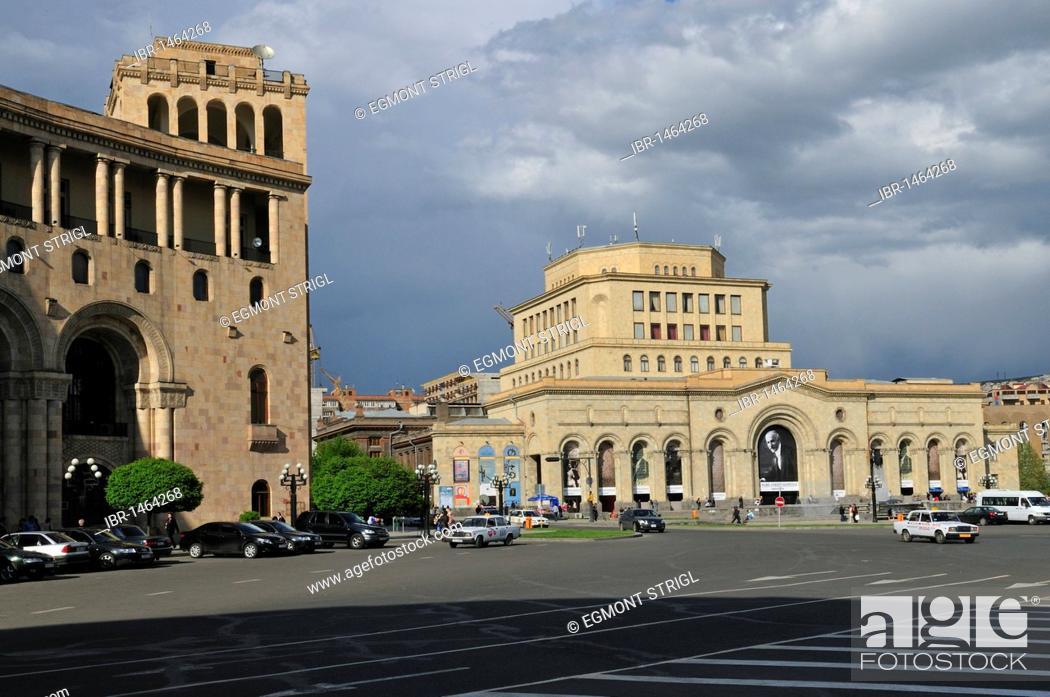 Stock Photo: National Historical Museum at Republic Square, downtown Yerevan, Jerewan, Armenia, Asia.