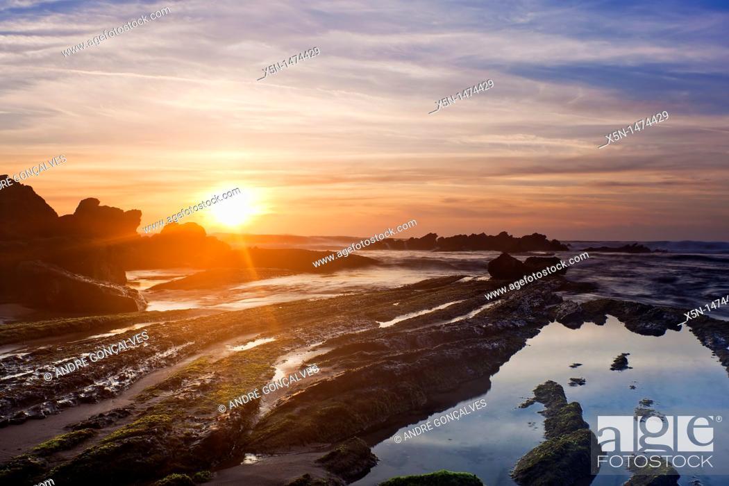 Stock Photo: Beach in Santa Cruz, Torres Vedras, Portugal, Europe.