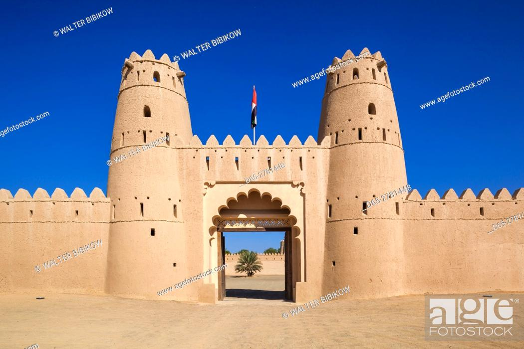 Stock Photo: UAE, Al Ain, Al Jahili Fort, built in 1890.