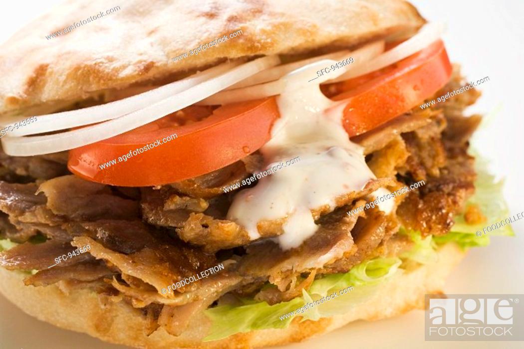 Stock Photo: A döner kebab.