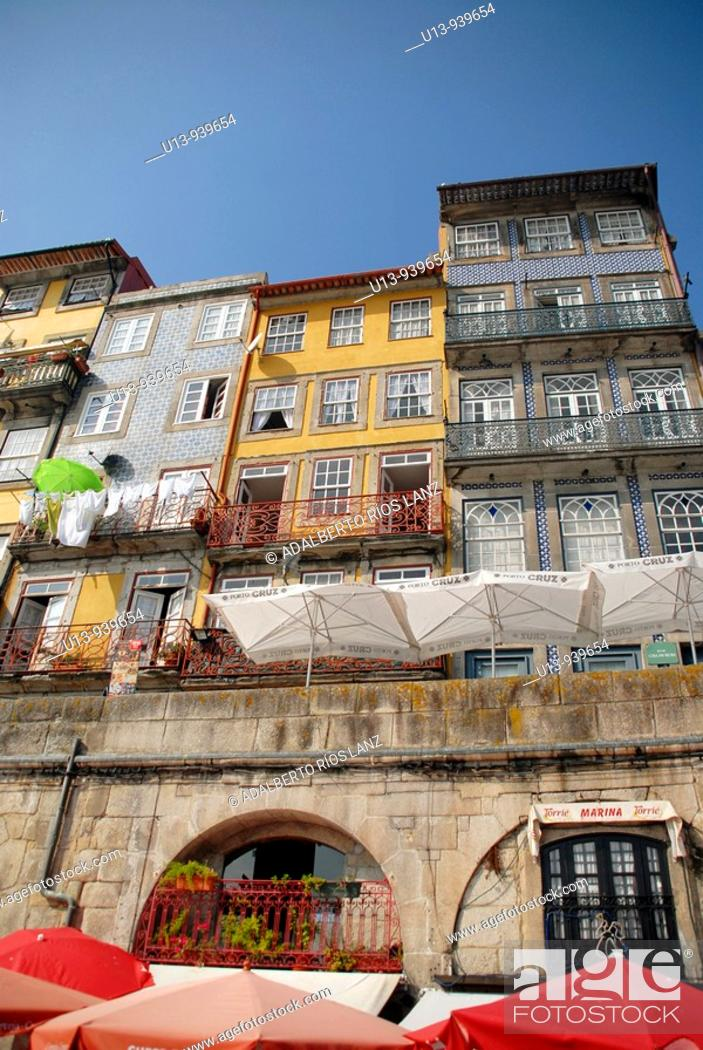 Stock Photo: Ribeira district, Oporto, Portugal, Europe.