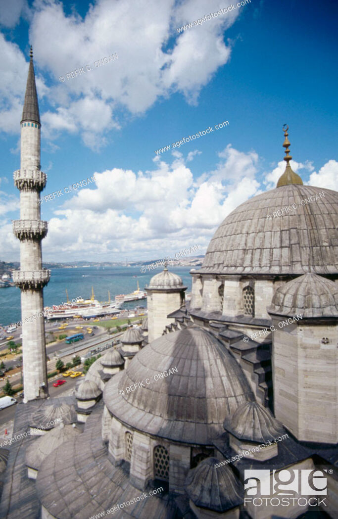 Stock Photo: View from new mosque minaret. Istanbul. Turkey.
