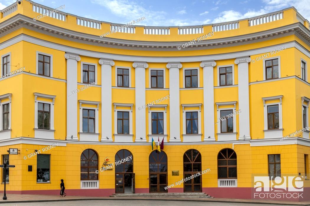 Stock Photo: Colourful Buildings In Square De Richelieu, Odessa, Ukraine.