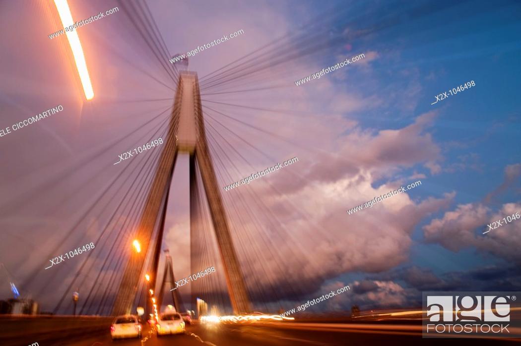 Stock Photo: Anzac Bridge, Sydney, Australia.