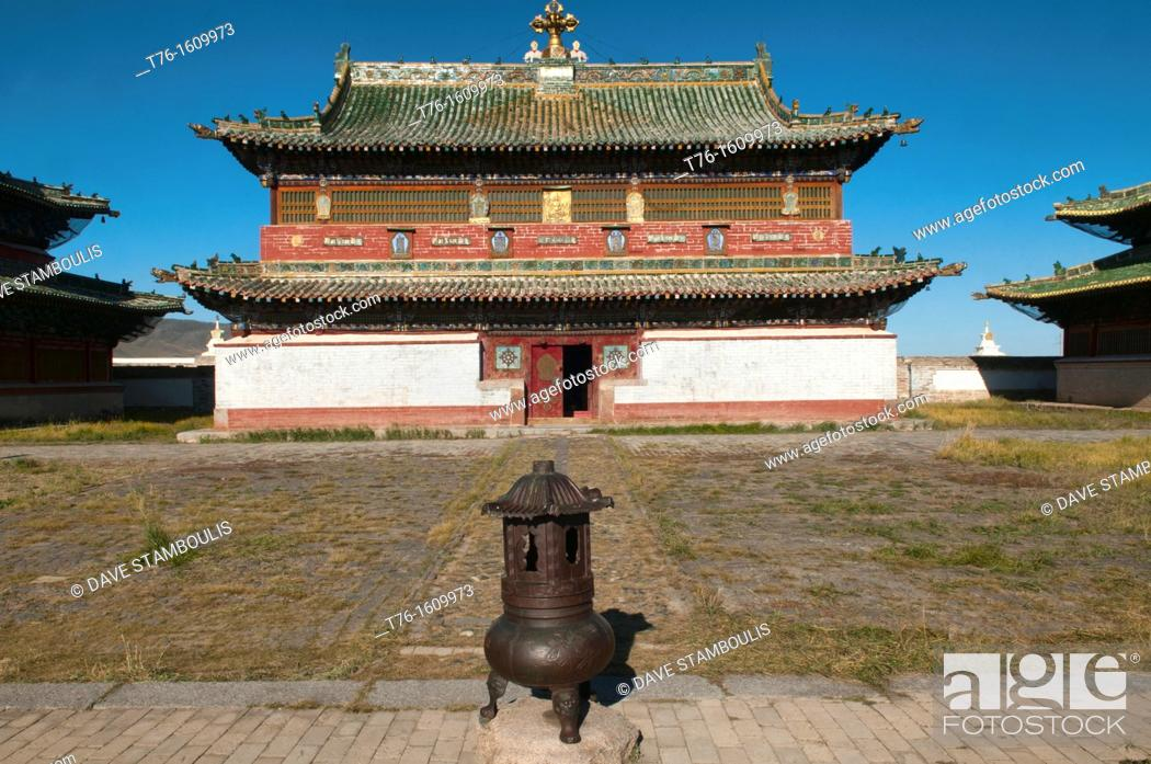 Stock Photo: temple at Kharakorim Monastery in Central Mongolia.