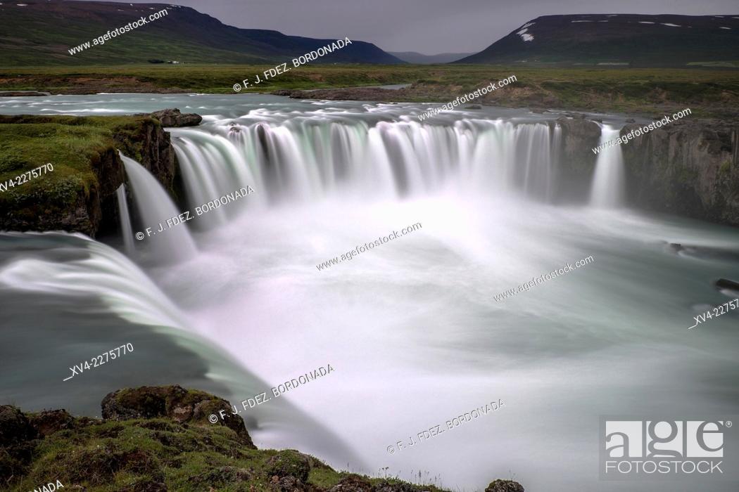 Stock Photo: Godafoss waterfall, Iceland.