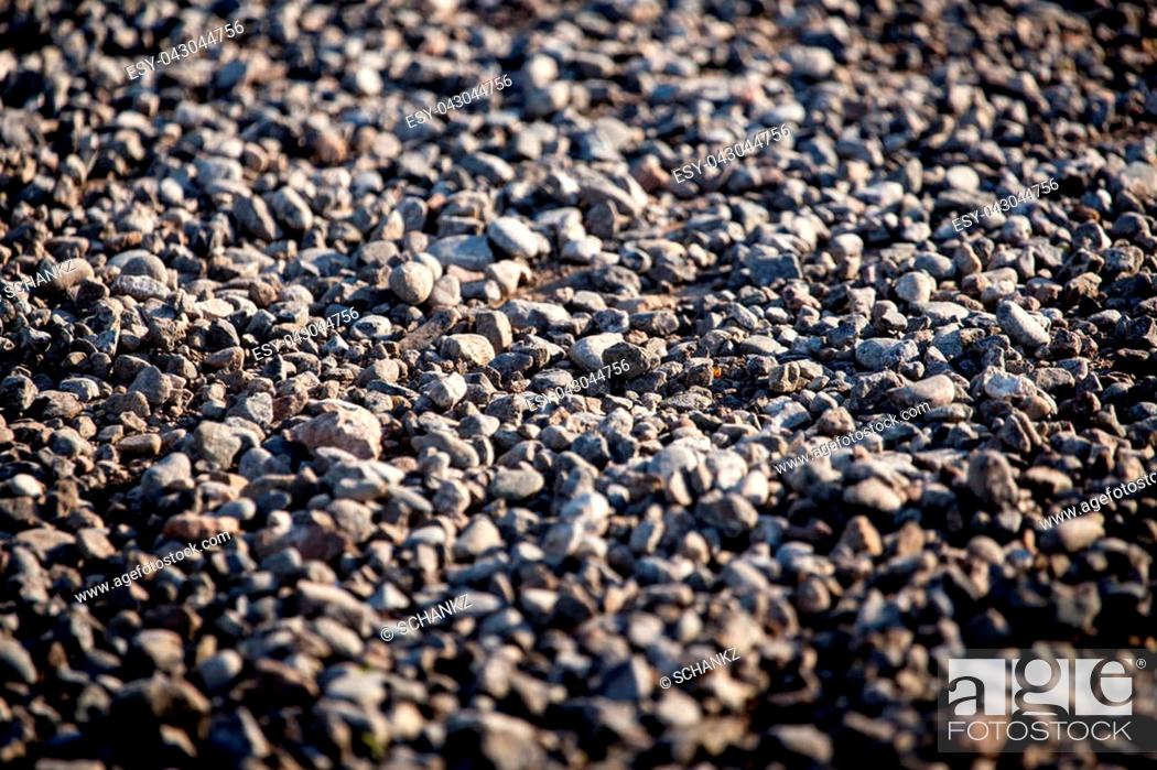 Imagen: Crushed stone on the road as a background .