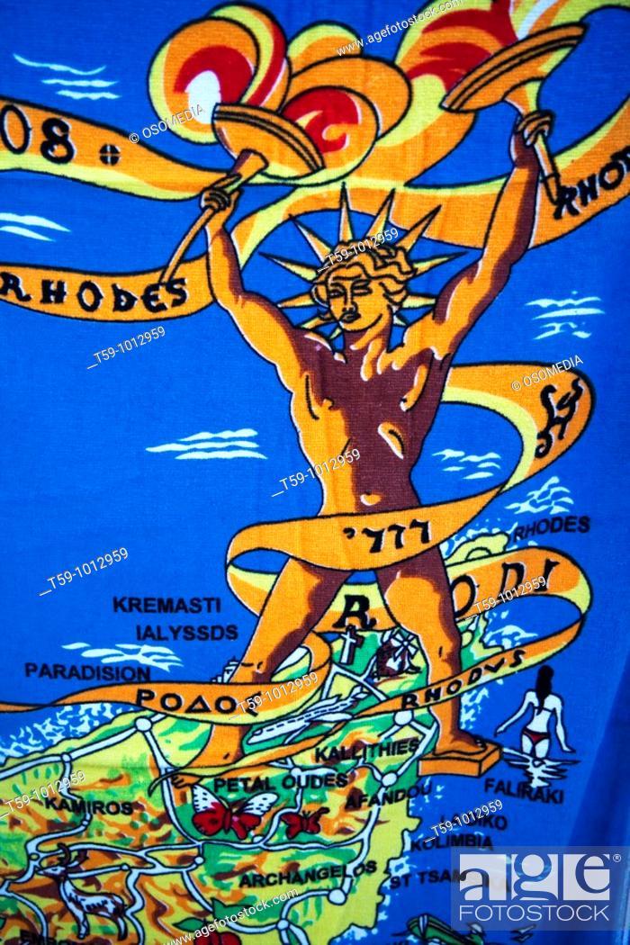 Stock Photo: Souvenir, Rhodes, Dodecanese, Greece.