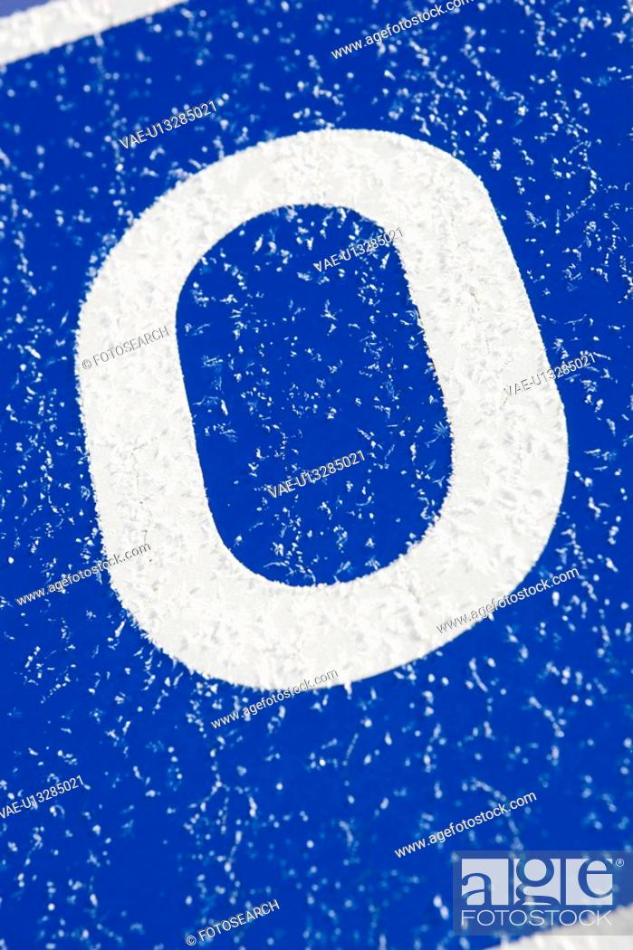 Stock Photo: Blue, Letter, Day, Close-Up, Alphabet.