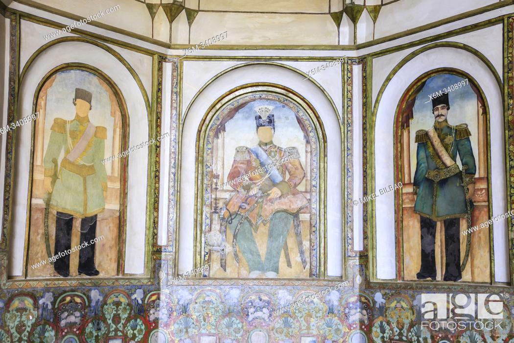 Stock Photo: Decoration detail. Boroujerdi Historical House (Khan-e Boroujerdi). Kashan. Iran, Asia.