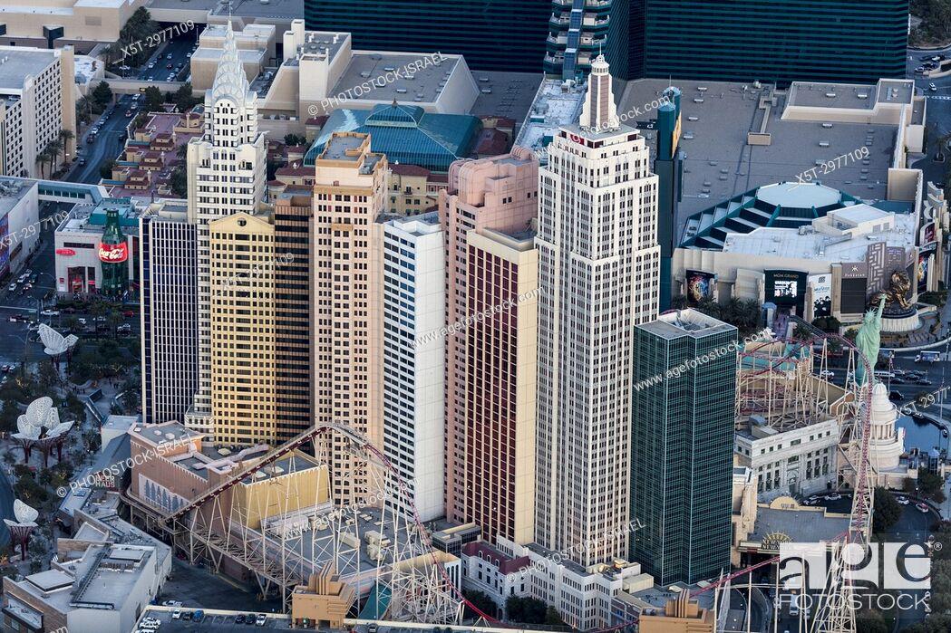 Stock Photo: New York-New York Hotel & Casino, Las Vegas, Nevada, USA.