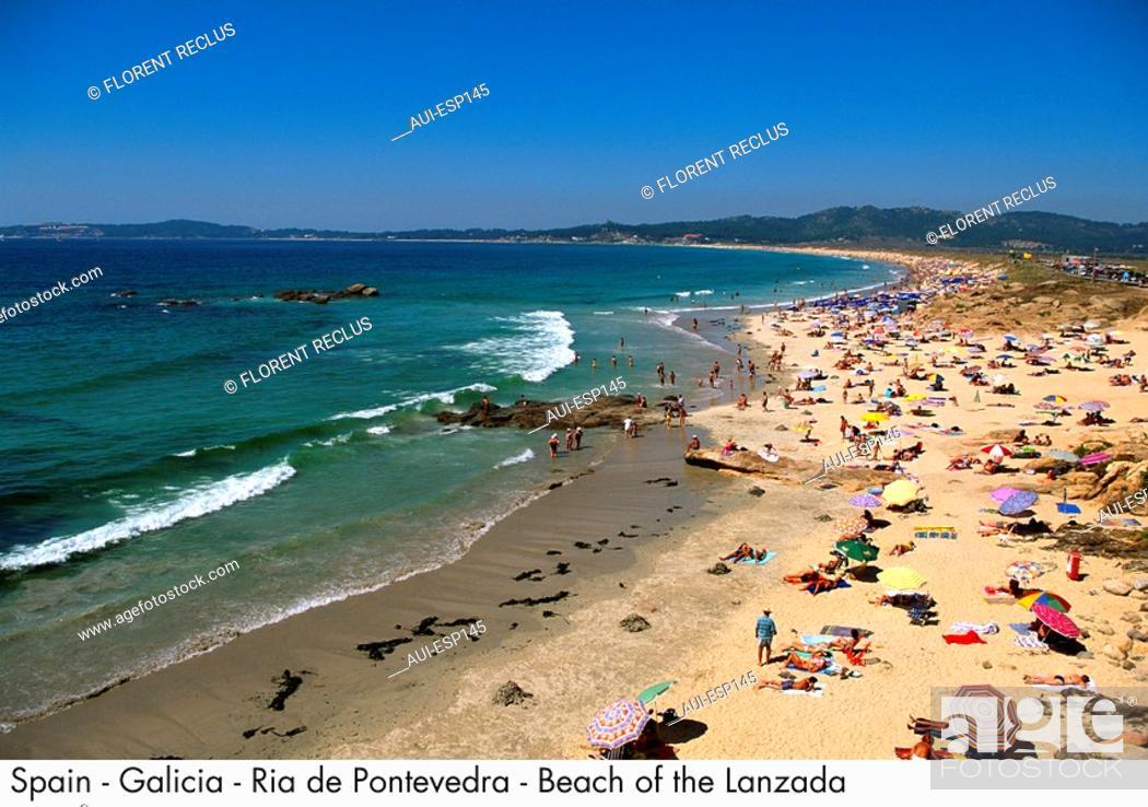 Stock Photo: Spain - Galicia - Ria de Pontevedra - Beach of the Lanzada Spain.