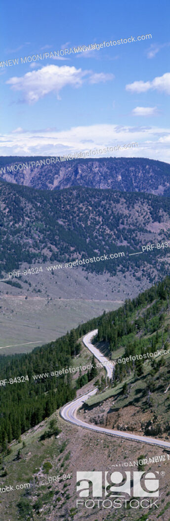 Stock Photo: Road Beartooth Highway MT.