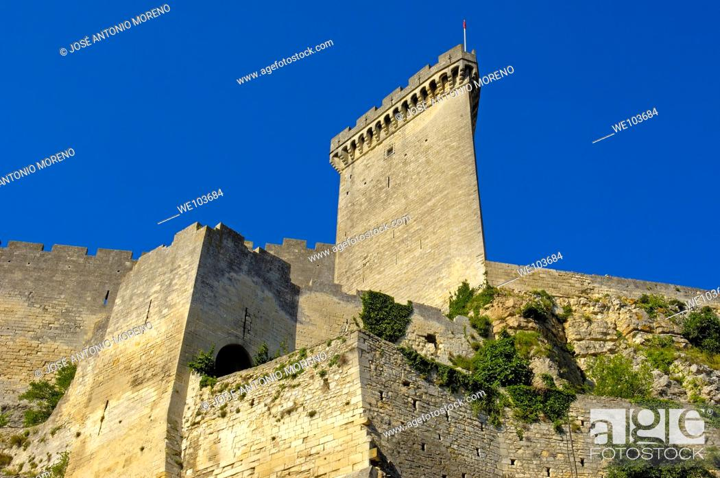 Stock Photo: Castle, Beaucaire, Gard, Languedoc-Roussillon, France.