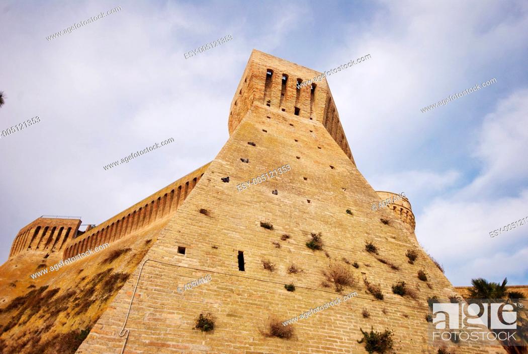 Stock Photo: Acquaviva Picena, under the fortress.