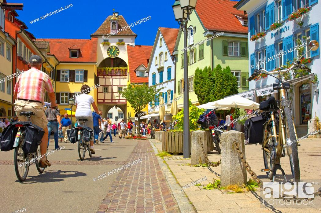 Photo de stock: Meersburg, Old town, Castle, Lake Constance, Bodensee, Baden-Wuerttemberg, Germany, Europe.