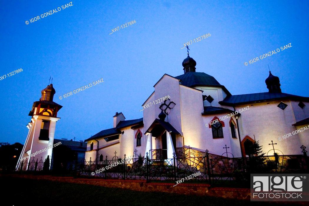 Stock Photo: Ketryzn  Forrest, Sky, Night  Poland.